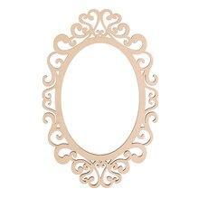 "Fancy Oval Laser Cut Wood Frame by ArtMinds, 5"" x 7"""