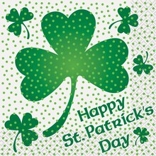 Lucky Shamrock St. Patrick's Day Luncheon Napkins, 16ct