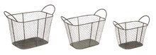 Mesh Wire Baskets, Set of 3