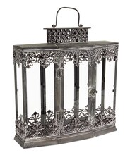 Gray Filigree Lantern