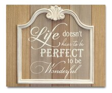 Inspirational Plaque with Frame Accent