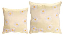 Embroidered Daisy Pillows