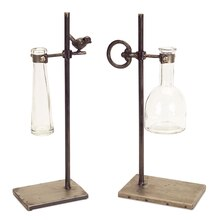 Stem Vases with Stands (Set of 2)