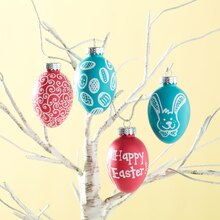 Bright Easter Tree with Chalkboard Eggs, medium