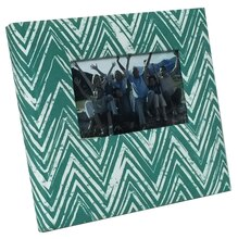 Darion Ivory & Turquoise Chevron Photo Album by Recollections