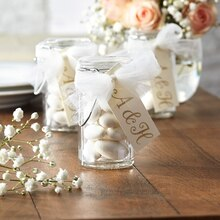 Tulle-Embellished Hinged Jar Wedding Favor, medium