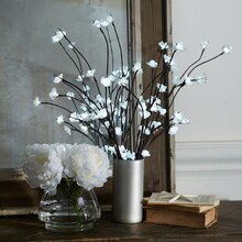 Lighted Floral Branches in a Vase, medium