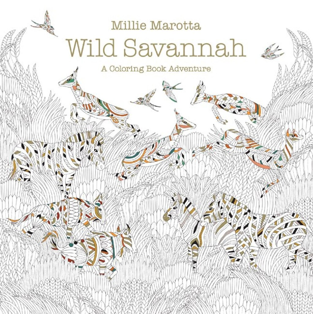 wild savannah a coloring book adventure - Coloring Books