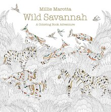 Wild Savannah: A Coloring Book Adventure