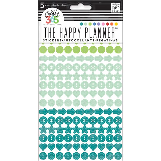 Create 365 the happy planner colorful dots stickers for Happy planner accessories