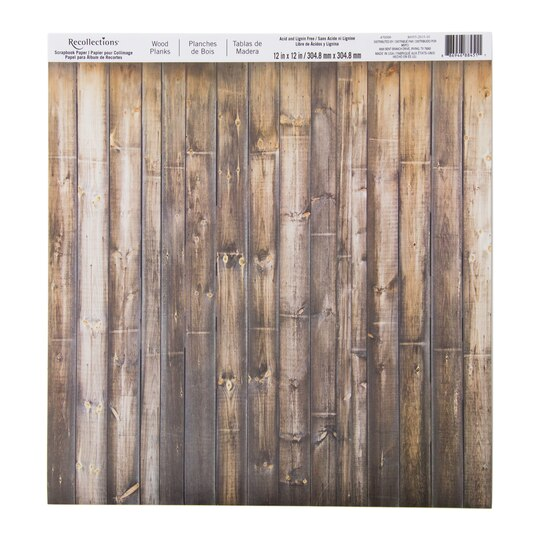 Wood Planks Scrapbook Paper By Recollections 174