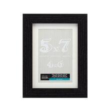 "Black Belmont Tabletop Frame With Mat by Studio Décor, 4"" x 6"""