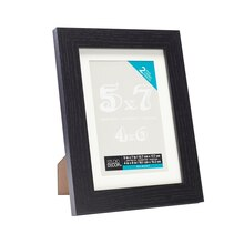 "2-Pack Black Belmont Tabletop Frame With Mat by Studio Décor, 4"" x 6"""