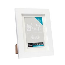 "2-Pack White Belmont Tabletop Frame With Mat by Studio Décor, 4"" x 6"""