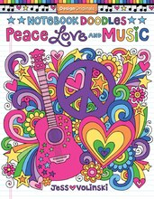 Notebook Doodles: Peace, Love & Music Coloring Book