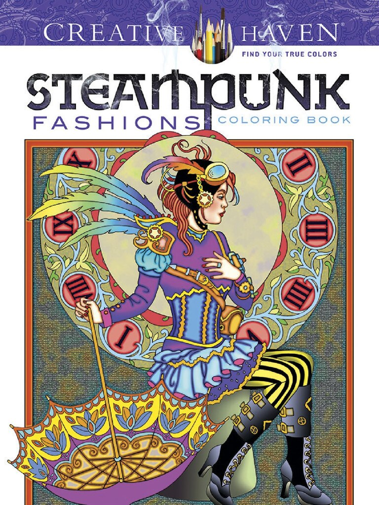creative haven steampunk fashions coloring book - Creative Haven Coloring Books