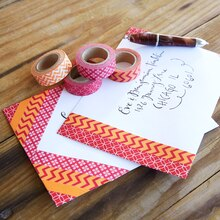 Washi Tape Decorated Envelopes, medium