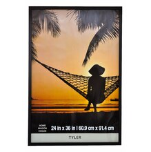 black wood tyler frame by studio dcor 24 x 36 - Michaels Frames 24x36