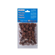 10mm Pom Pom Value Pack by Creatology, Brown