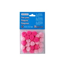 "1/2"" Pink Mix Pom Poms by Creatology"
