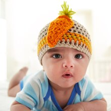 Baby Crochet Carrot Beanie, medium