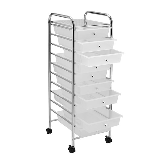 Clear 10 drawer rolling organizer by recollections for Rolling craft cart with drawers