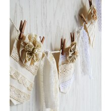 Lace Ribbon Banner, medium