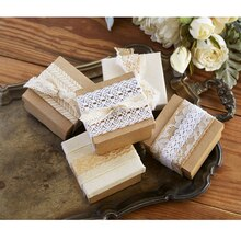 Lace Ribbon-Wrapped Kraft Gift Boxes, medium