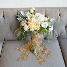 Lace Ribbon and Floral Bouquet, medium