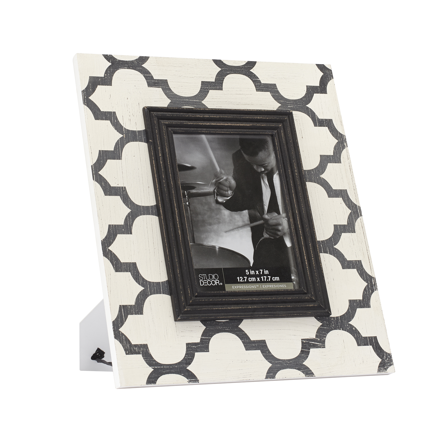 Charming Black U0026 White Quatrefoil Frame By Studio Decor Expressions, ...