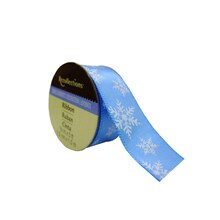 Blue Snowflake Satin Ribbon by Recollections