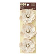 Burlap & Lace Flower Embellishments by Recollections Signature