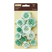 Mint Sweetwater Rose Embellishments by Recollections Signature