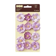 Gold Tipped Purple Flower Embellishments by Recollections Signature