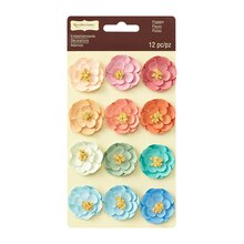 Multicolor Paper Flower Embellishments by Recollections Signature
