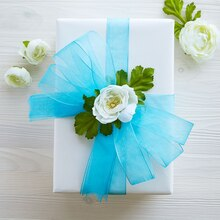 Mega Ribbon and Floral Embellished Gift Box, medium