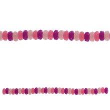 Bead Gallery Small Rondelle Acrylic Beads, Pink, Close Up