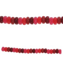 Bead Gallery Large Rondelle Acrylic Beads, Red, Close Up