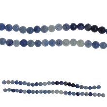 Bead Gallery Blue Aventurine Round Beads, Close Up