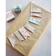 Vintage Blush Ribbon Banner, medium