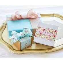 Vintage Blush Ribbon and Twine-Wrapped Gift Box, medium