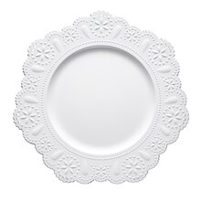 "13"" White Doily Charger by Ashland"