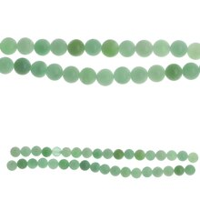 Bead Gallery 8 mm Round Glass Beads, Green, Close Up