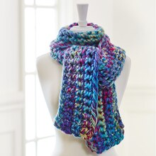 Finger Crochet Scarf, medium