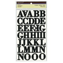 black serif alphabet stickers by recollections