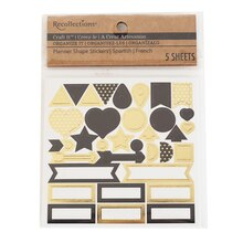 Craft It Organize It Planner Gold & Black Shape Stickers by Recollections