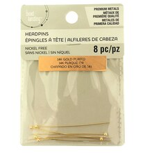 Premium Metals 14K Gold Plated Headpins by Bead Landing