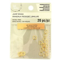 Premium Metals 14K Gold Plated Jump Rings by Bead Landing