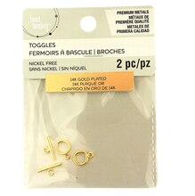 Premium Metals 14K Gold Plated Toggle Clasps by Bead Landing