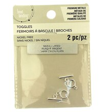 Premium Metals Silver Plated Toggle Clasps by Bead Landing